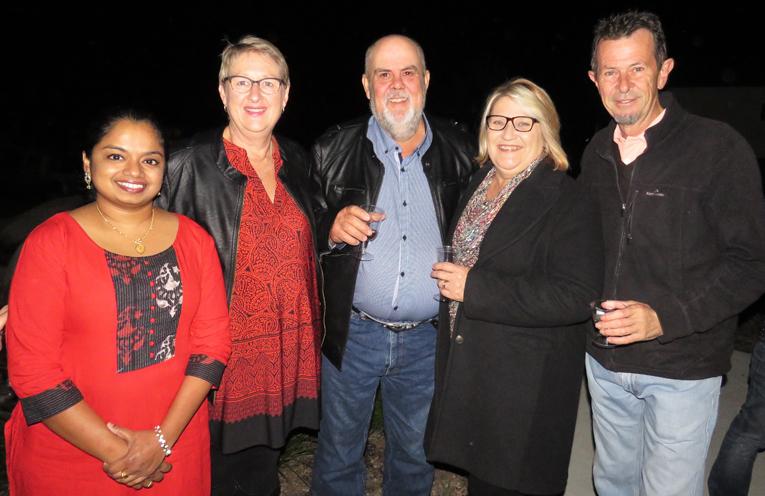 Rani Sivaprasad, Maree and Russell Richards, Kath Freihaut and Mark Byrne.