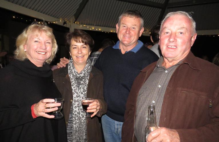 Kerry Gooch, Teresa and David Mort and Gary Gooch enjoy a pre-dinner drink.