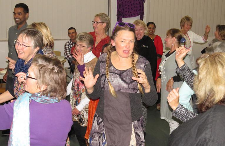 Georgina Cunich enjoyed the Indian dancing.