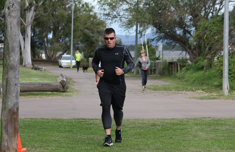 Darren Bisson at Raymond Terrace Parkrun, preparing for the Marathon in New York.