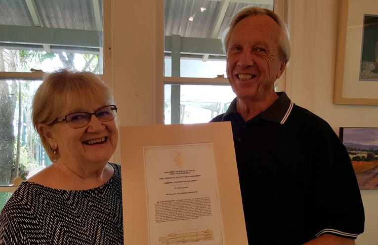 CERTIFICATE OF RECOGNITION: GIG's Cheryl Cook and Trevor Cook.