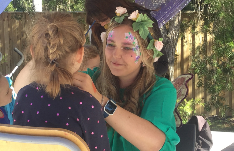 The free face painting was a favourite for the children.