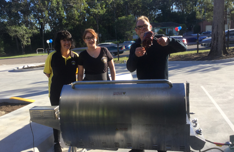 The Spit roast cooked on site was well received by attendees at the grand opening.