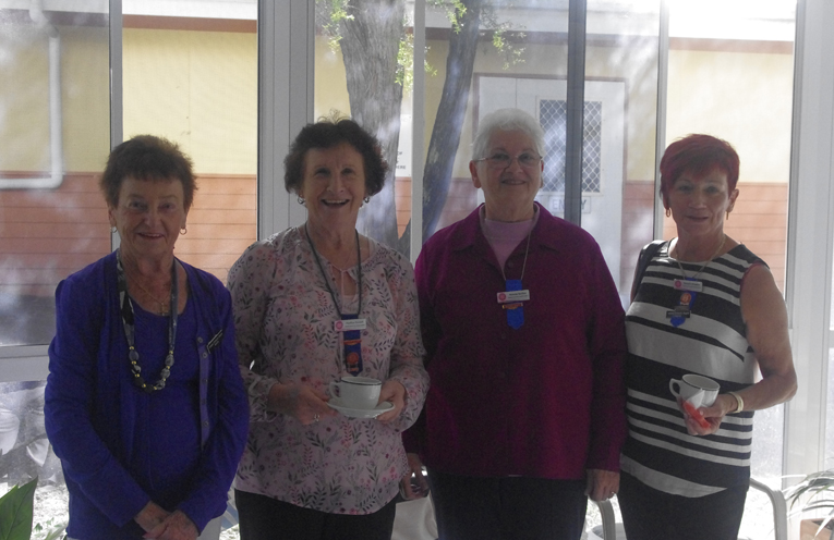 Members of the Tomaree Community Hospital Ladies Auxiliary Dianna Bricknell, pauline Faucett, Narelle Wakelin and Yvonne Barber. Photo by Marian Sampson.