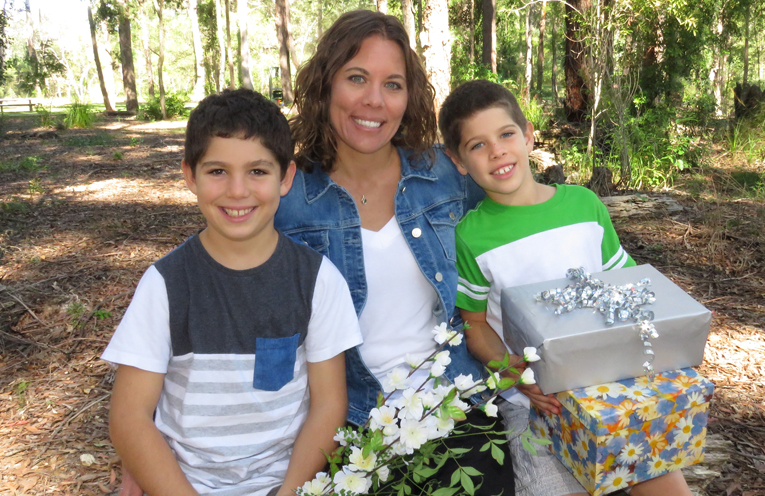 Gifts for Mum: Blake, Erin and Charlie Matheson