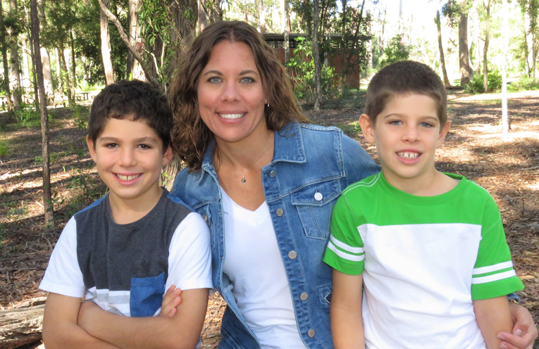 Erin Matheson and her sons Blake and Charlie.