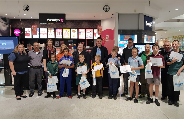 This week's PBL Winners with their school principals or school representatives.