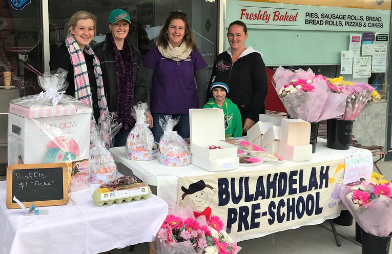 Mother's Day Stall: Lacey Dawes, Jess Gordon, Stacey McLoughlin and Megan Bailey.