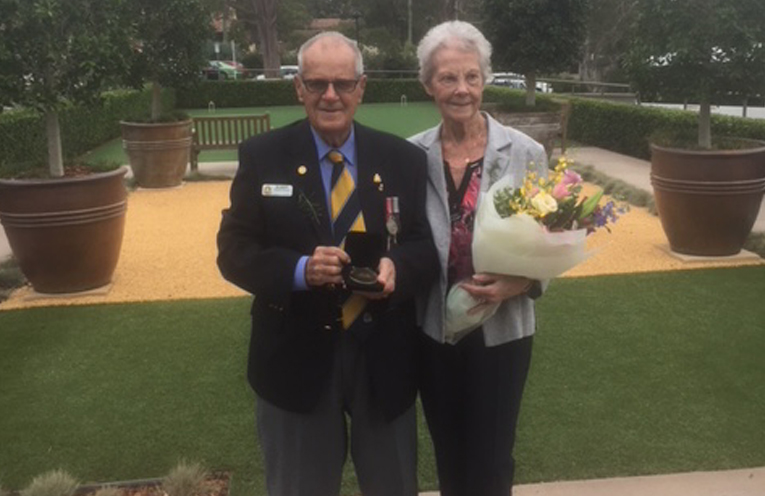 RSL LIFECARE AWARD: Barry and Trish Whiteman.