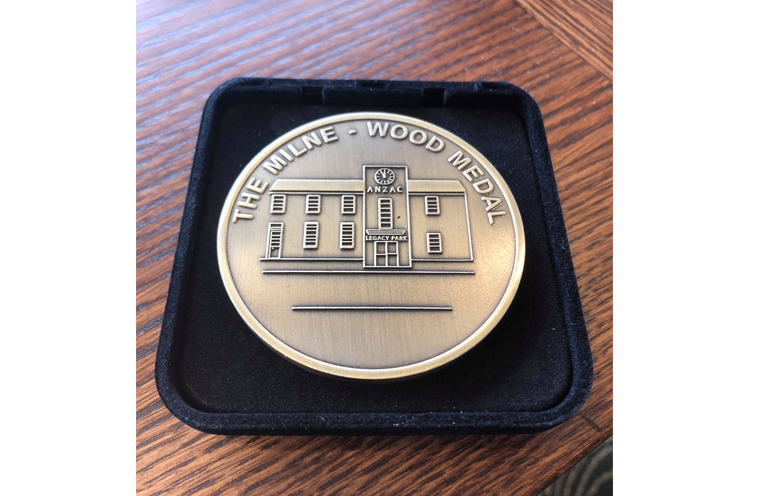 RSL LIFECARE AWARD: Milne-Wood Medal.