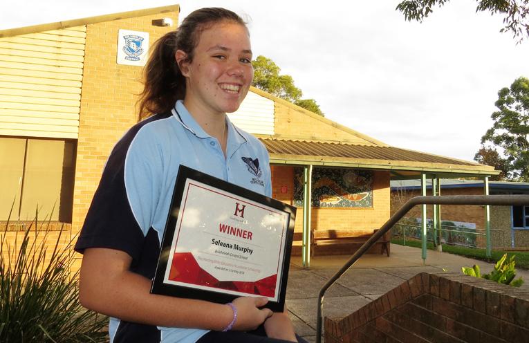 Scholarship winner Seleana Murphy.