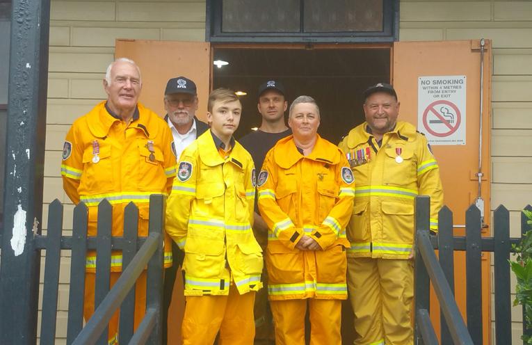 Members of Seaham Rural Fire Brigade.