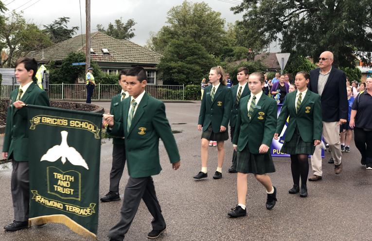 Students from St Brigid's Catholic Primary School.