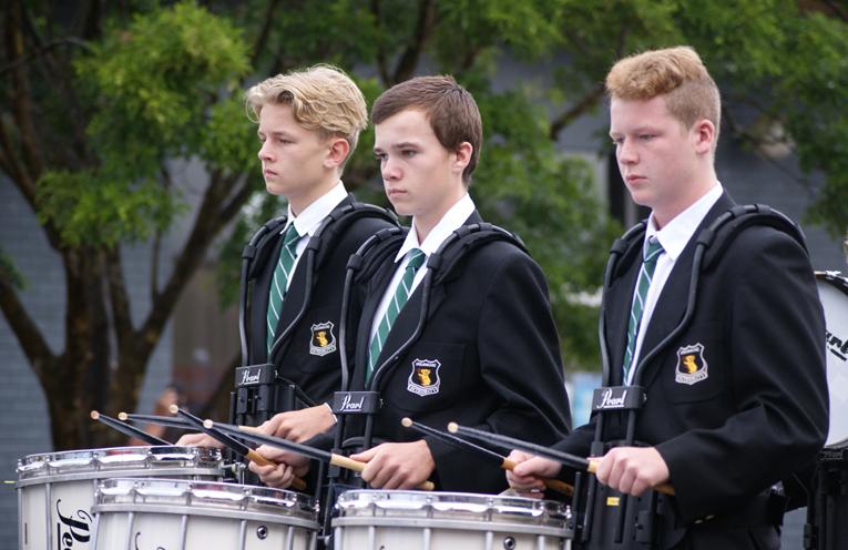 Members of the Irrawang Drum Corp.