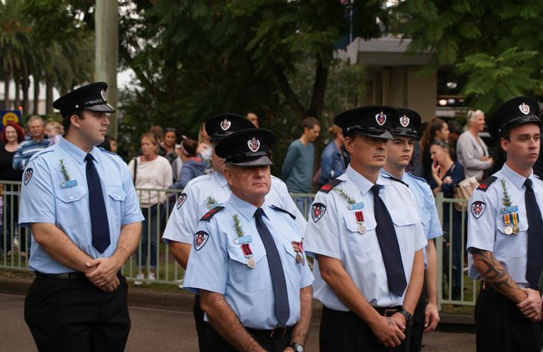 Members of the NSW Fire Service - Raymond Terrace.