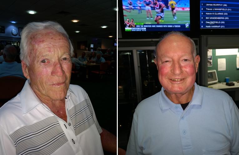 Front nine winner Jim Murphy.  (left) Back nine winner Peter Walters. (right)
