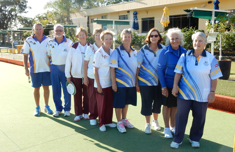 2018 Coaching Course participants with tutor, Kathy Chatillon NSW Women's Bowls, second from right.