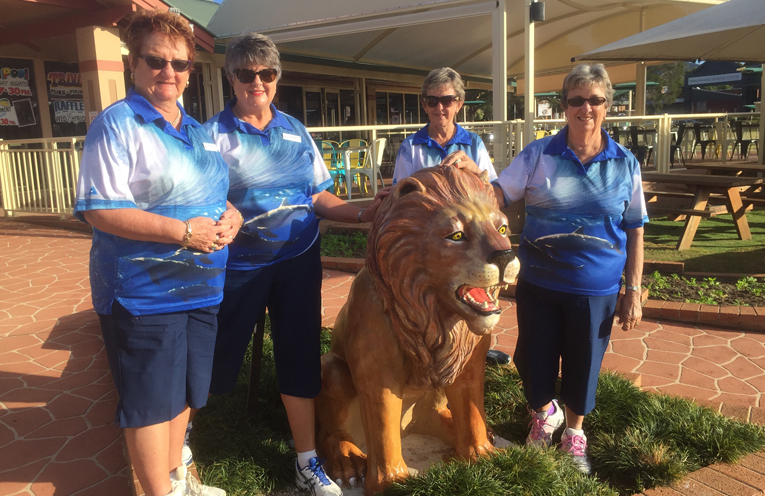Deyonne Page, Karen McPhie, Jeanette Emmett and Robyn Webster at the Sate Carnival, Wisemans Park Wollongong City Bowling Club.