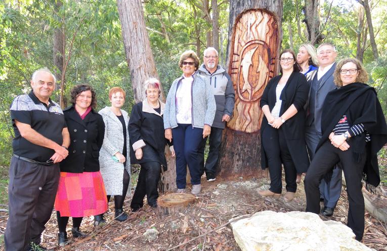 Karuah Aboriginal Land Council CEO Len Roberts with Land Council members, MidCoast Council staff, Councillor Karen Hutchinson and Deputy Mayor Katheryn Smith.