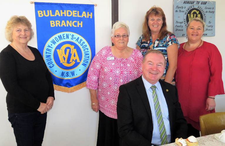 CWA Members with Myall Lakes MP Stephen Bromhead at the birthday celebrations.