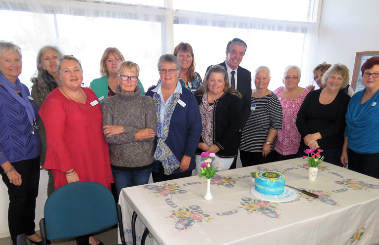 Minister for Disability and Volunteering Ray Williams with Bulahdelah CWA members.
