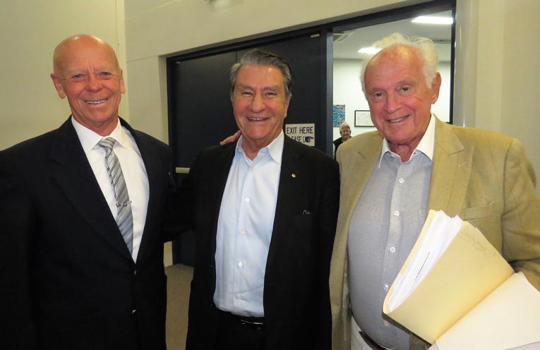 MidCoast Mayor David West with project Business Partner Nick Politis and Developer Peter Kampfner.