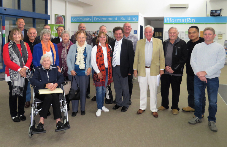 Bulahdelah residents attended the Council meeting to show their support for the Service Centre.