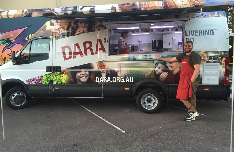 Enjoy a delicious home cooked meal with the volunteers at DARA's Van.