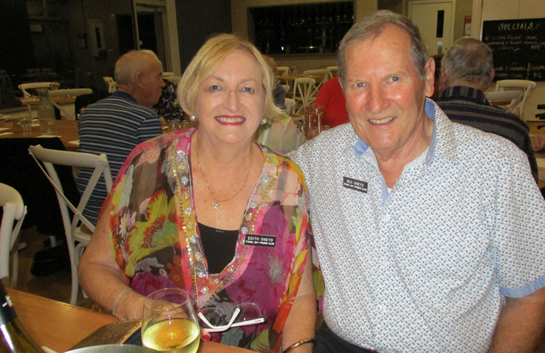 Edith and Rex Sneyd who are the new Wine and Dine Event Coordinators for the Fingal Bay Probus Club.