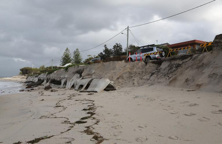 WINDA WOPPA: Beach erosion.