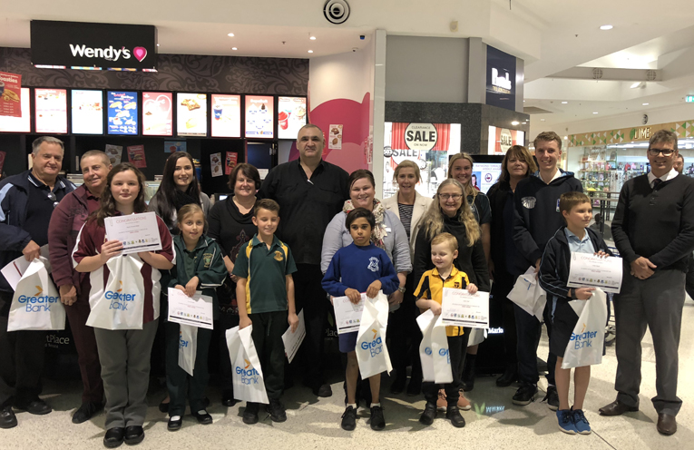 This week's award winners, with their school representatives at the ceremony.