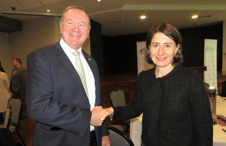 Myall Lakes MP Stephen Bromhead and NSW Premier Gladys Berejiklian are pleased to deliver the funding.