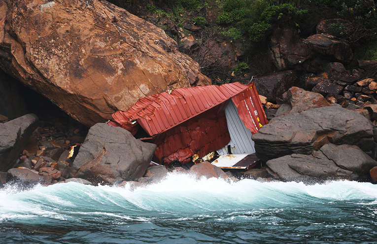YACAABA HEADLAND: Remains of Shipping Container.