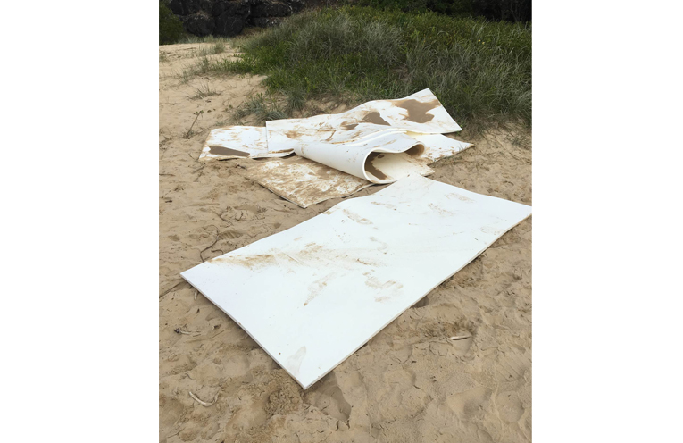 COFFS HARBOUR: Yoga Mats washed ashore.