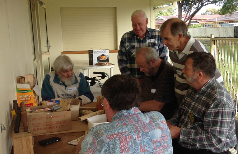 SKILLS DAY: Peter Sinclair Gardens Residents learn new craft.