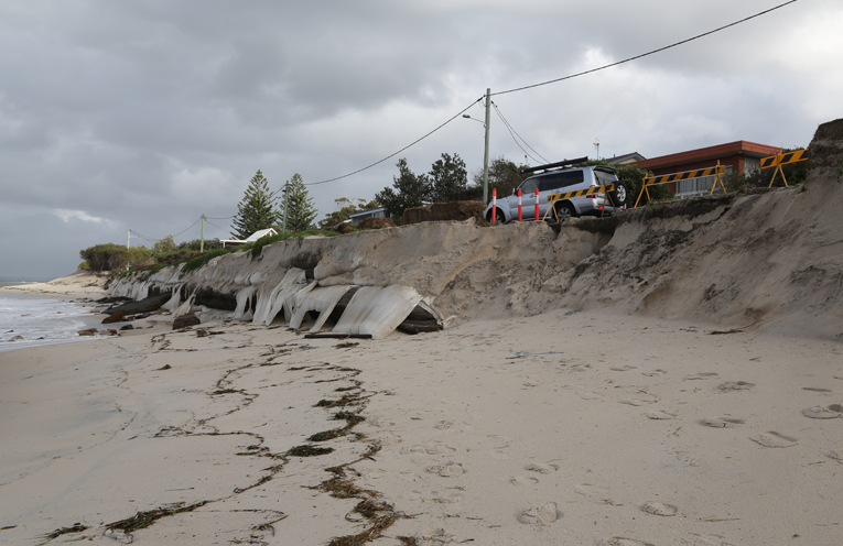 EROSION: Pinch Point at Jimmy's Beach.