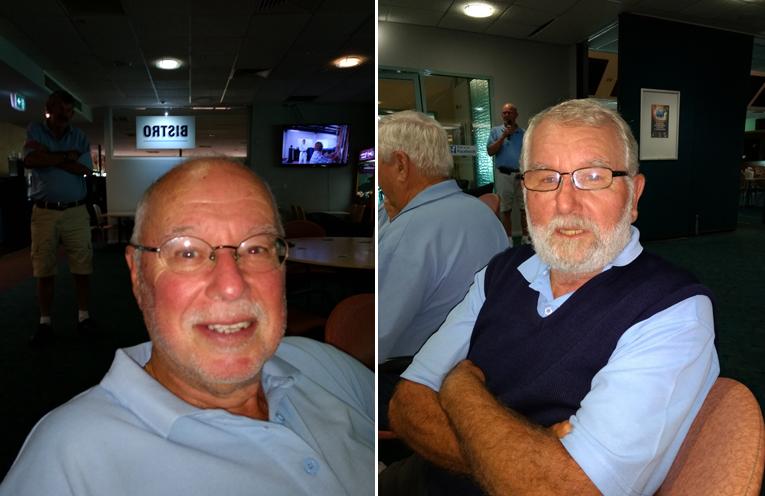 Front nine winner Ross Clissold. (left) Back nine winner Brian Calverley. (right)