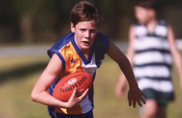 Josh Bohan, playing his chosen game of AFL at representative level.