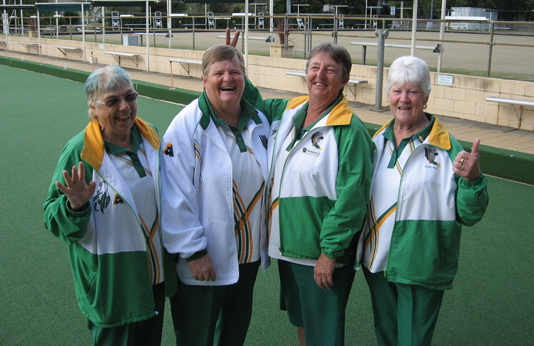 Winners are grinners! Vicki, Sharon, Pam and Delma at Club Lemon Tree.