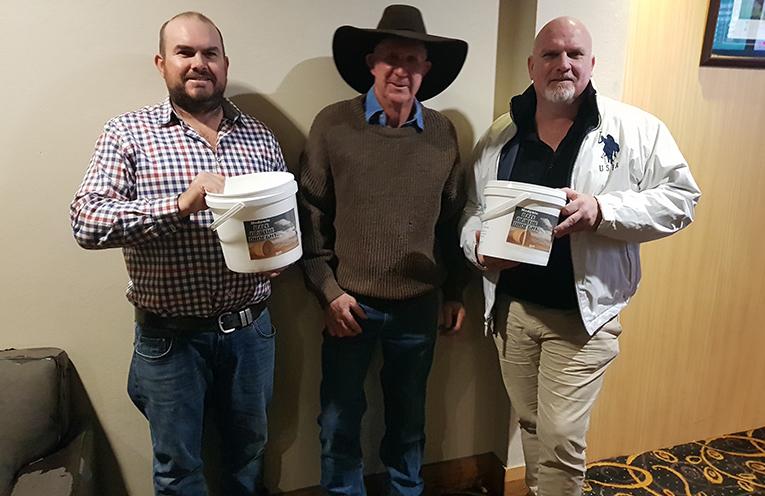 Cr Chris Doohan, Ben Niland and Brian (Cowboy) Newman.