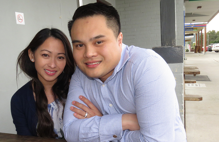 Lucy and Anthony Tan at the Plough Inn Hotel.