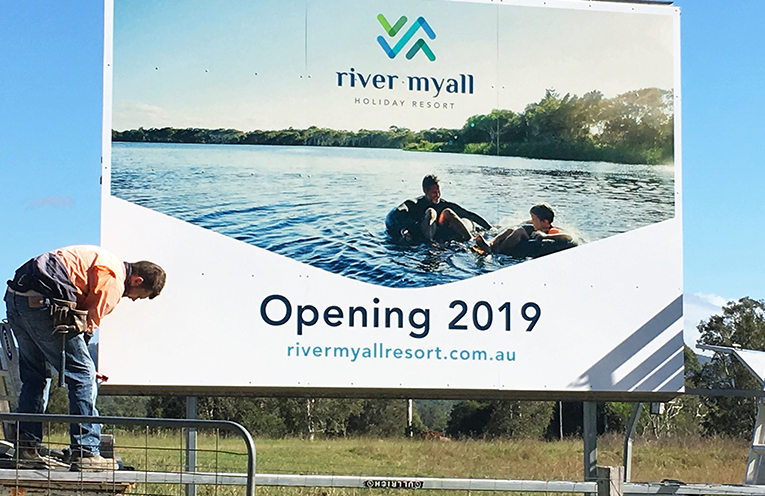 Site of the new River Myall Holiday Resort in Bulahdelah.