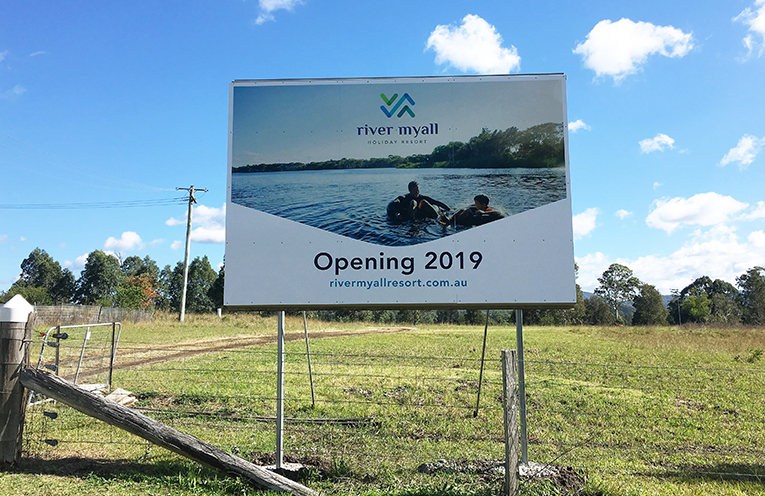 Work has started on the River Myall Holiday Resort at Bulahdelah.