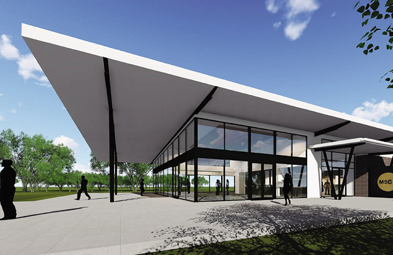 The artist's impression of the new Club.  Photo Credit to: EJE Architects