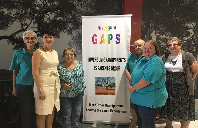 Kate Washington MP with Raymond Terrace's Grandparent as Parents (GAPS) group, who support grandparents who have taken on the full time care of their grandchildren.