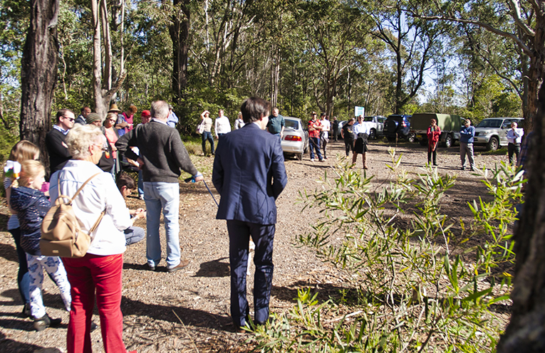 Residents attended in strong numbers, to oppose the changes to be made to Mustoms Road.
