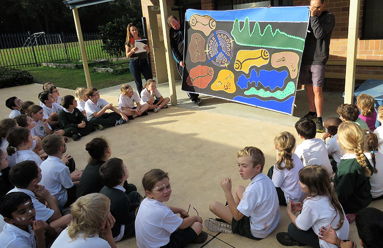 The artwork was unveiled at St Joseph's.