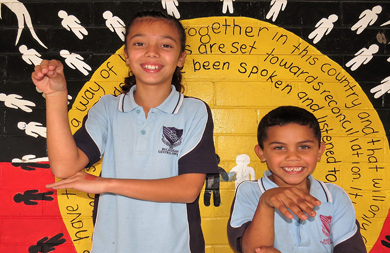 BCS students Taylah Tassell and Kleon Reid are proud to share their culture.