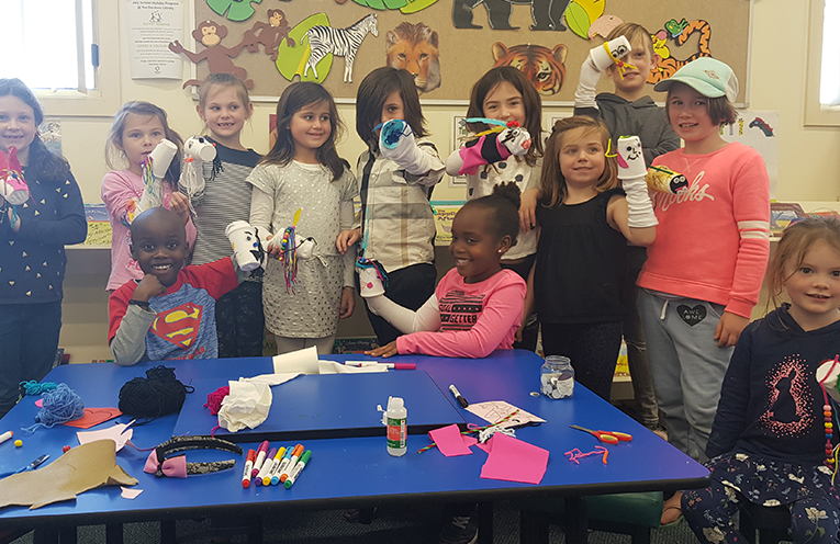 TEA GARDENS LIBRARY: Making Sock Puppets at the Library.