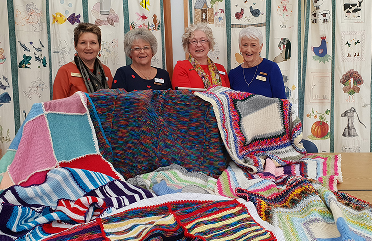 MYALL ART AND CRAFT CENTRE MEMBERS: Susan Burns, Dianne Taylor, Leona Clissold and Norma Seggie.